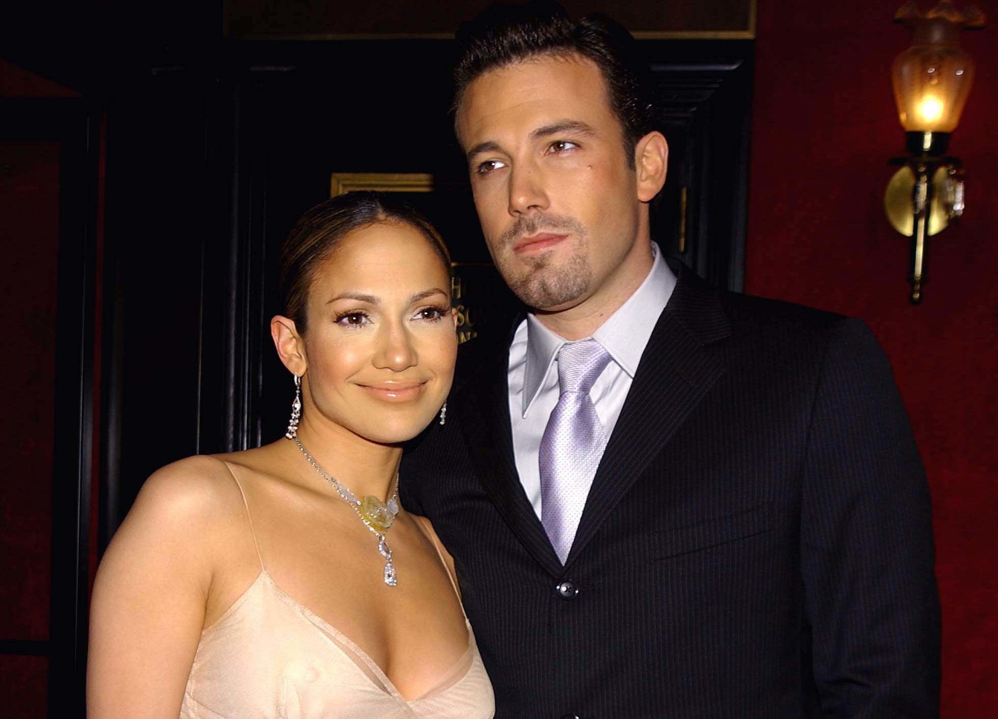 An older photo of Ben and Jennifer posing together