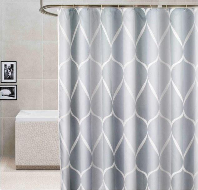 Foto de cortina de plástico para baño