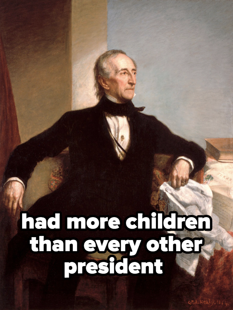 John Tyler, who had more children than every other president