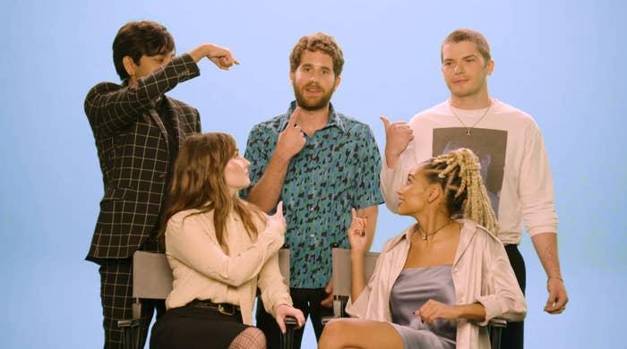 Everyone pointing at Ben
