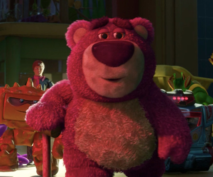 a sentient teddy bear comes to speak with Jessie