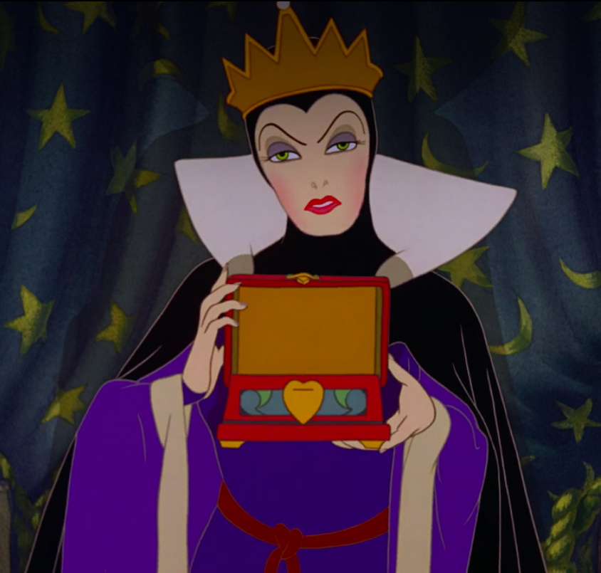 the Evil Queen has a box for Snow White's heart