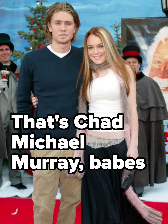 He's next to Lindsay Lohan