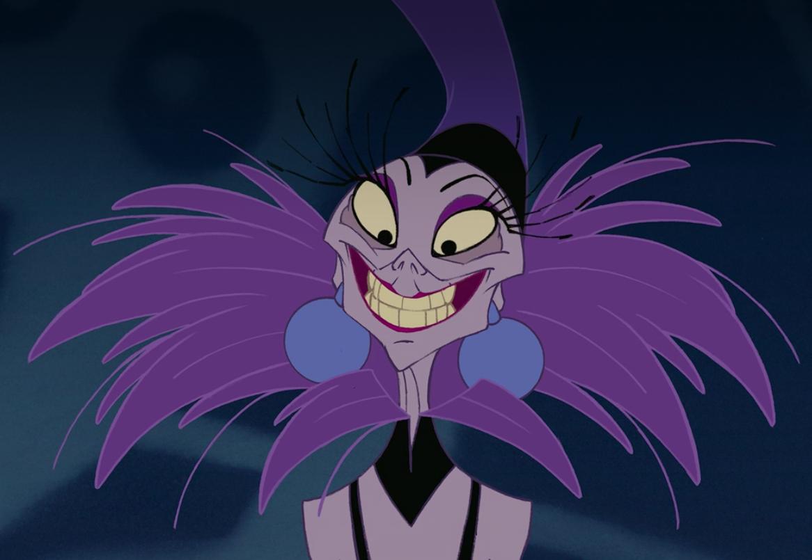 Yzma smiles at Kronk