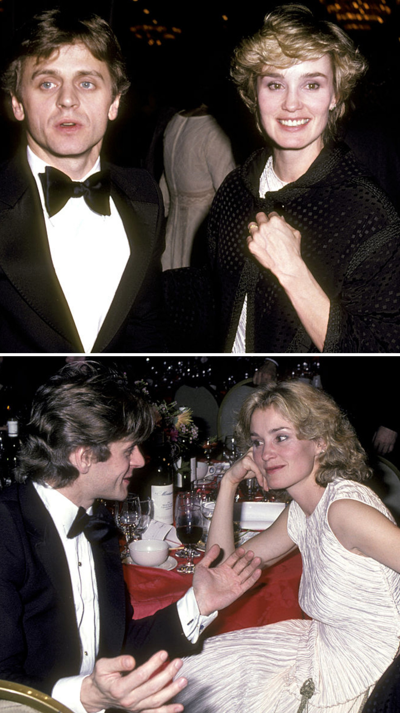 Lange andBaryshnikov at an event in 1983; Lange and Baryshnikov at an AFI Life Achievement Awards dinner in 1982