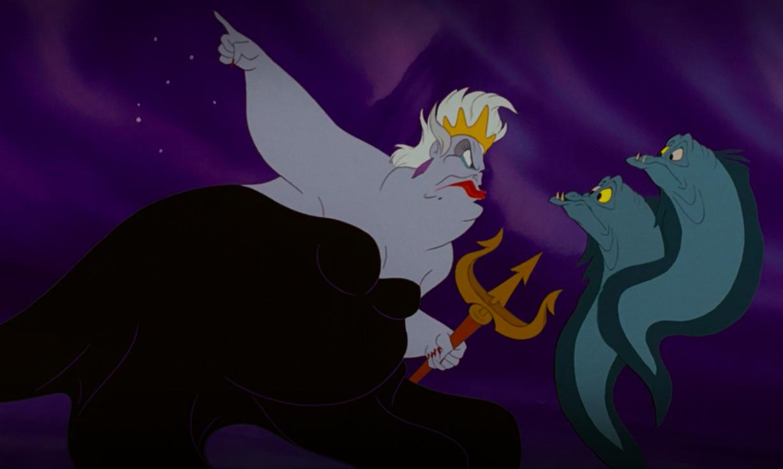 Ursula commands her eels to capture Eric
