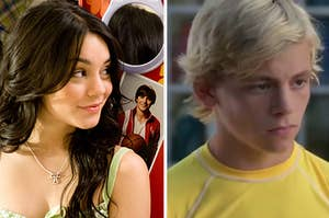 gabriella montez on the left and brady from teen beach movie on the right