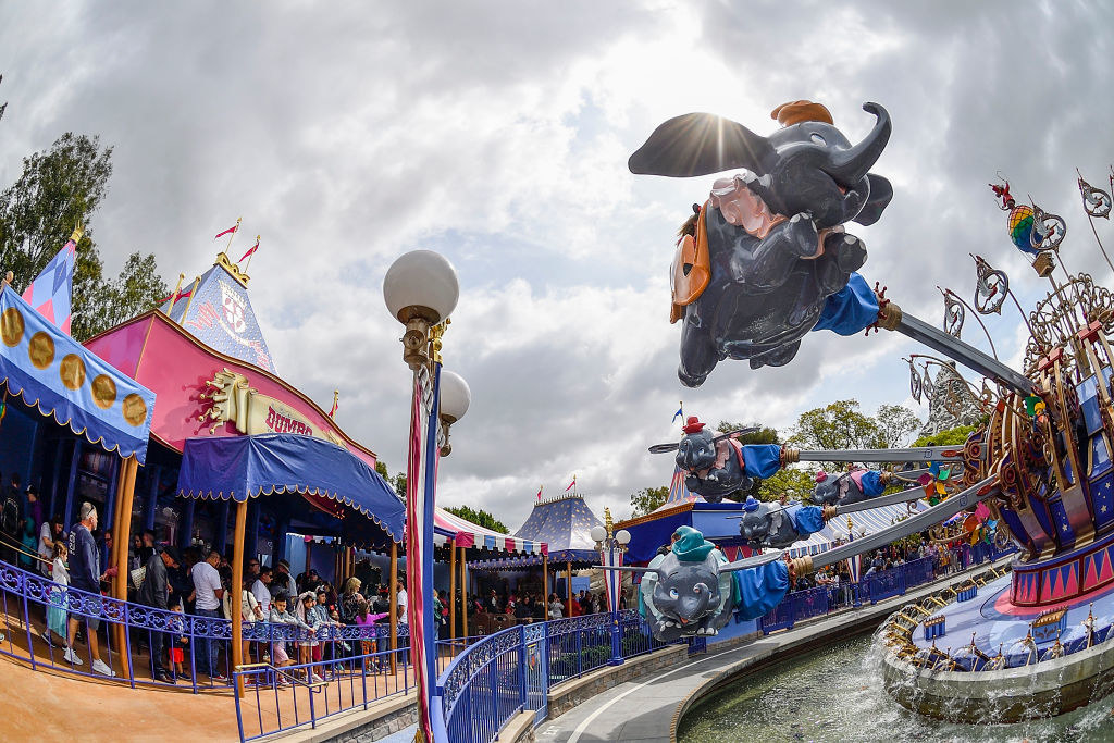 The dumbo ride at Disneyland