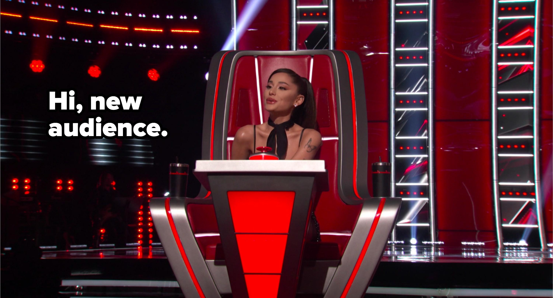 """Ari said """"Hi, new audience"""""""