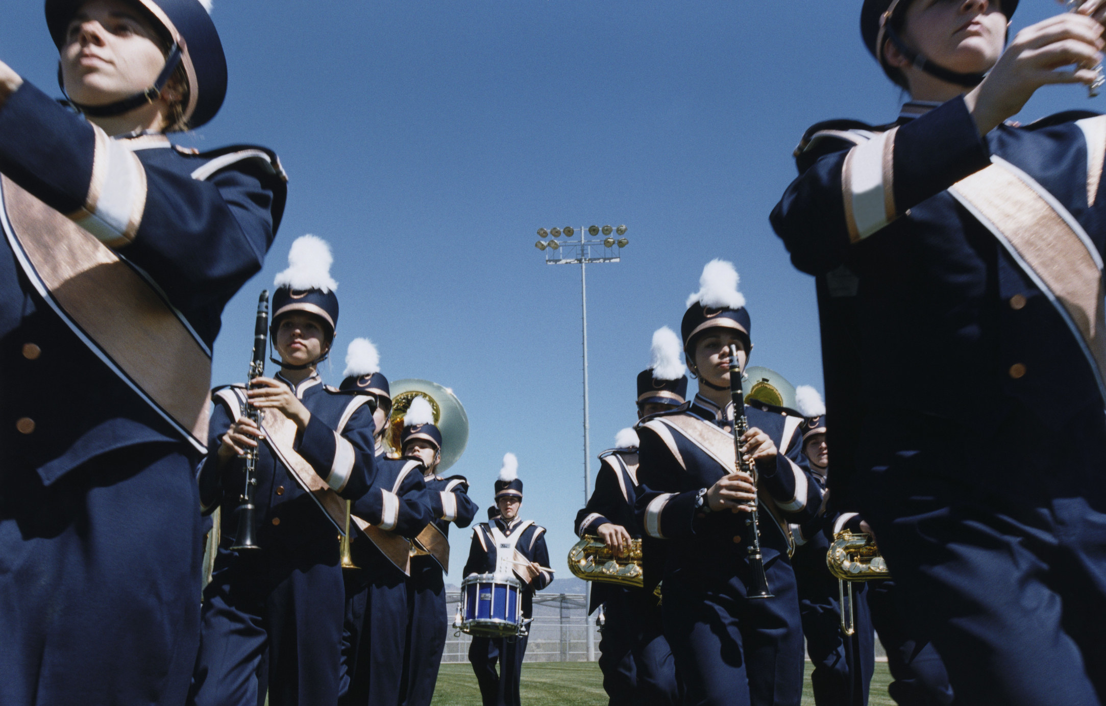 a high school marching band