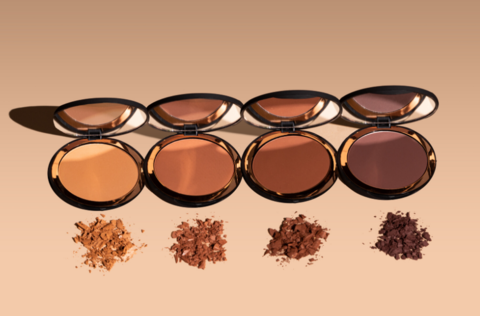 the four bronzer compacts lined up beside each other