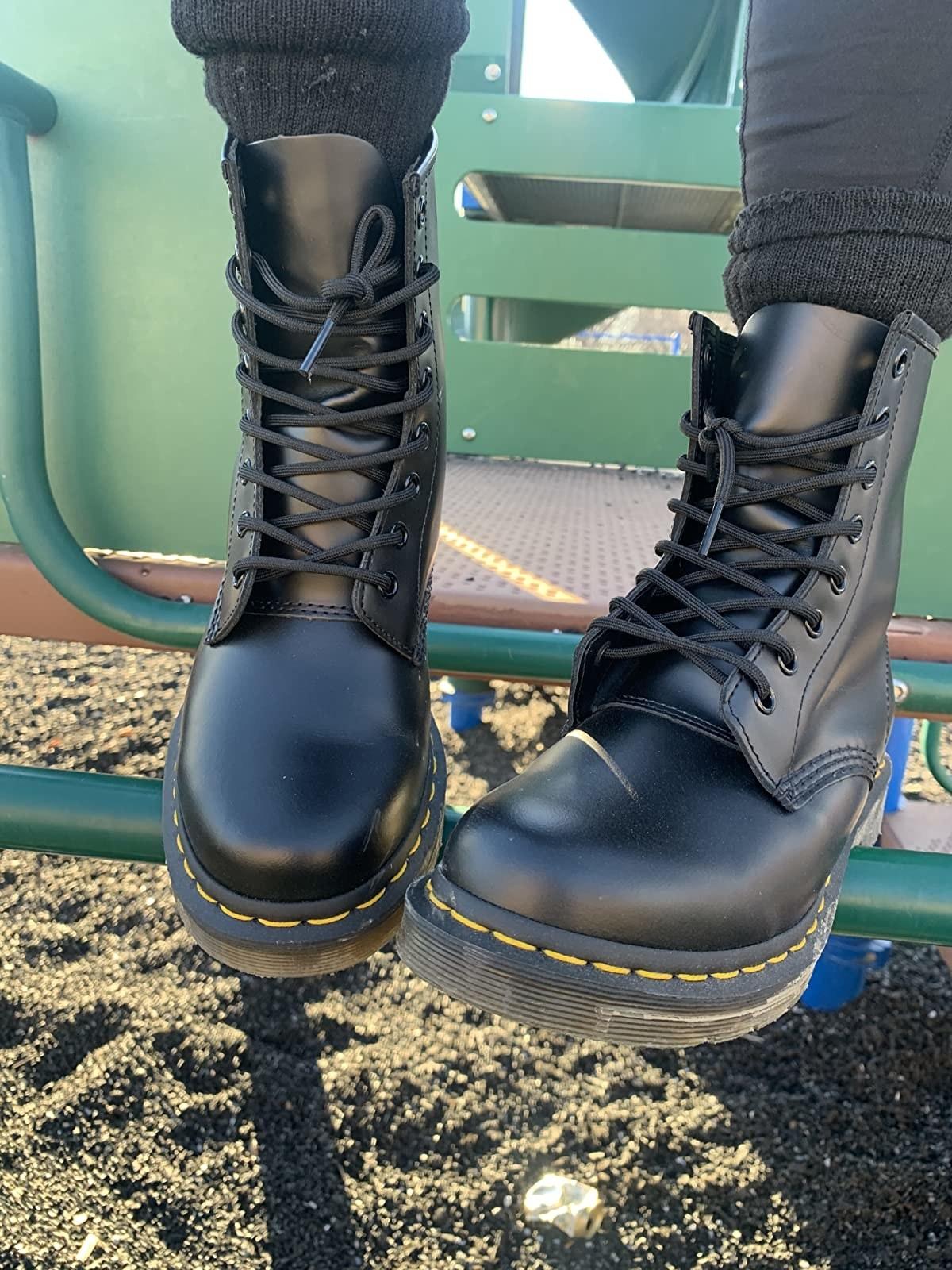 black doc martens boots
