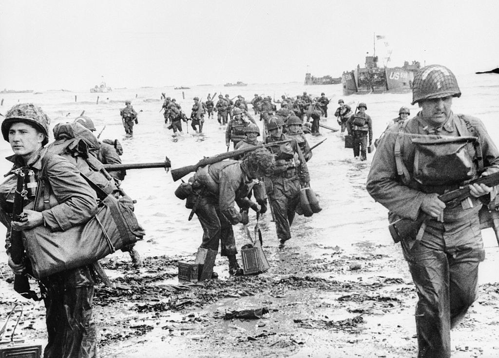 Allied troops at Normandy
