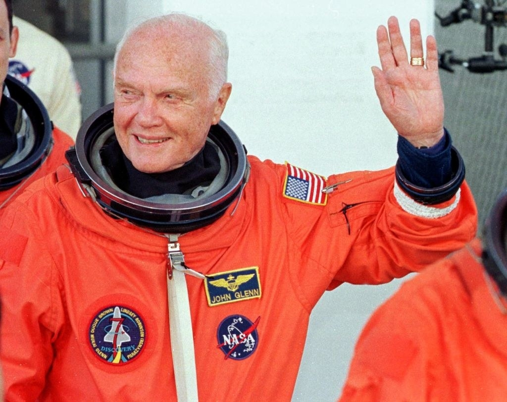 John Glenn preparing to go into space again