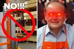 angry home depot employee