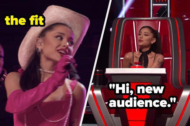 Every Time Ariana Grande Was The Best Part Of 'The Voice,' Including Her Little Wellness Kits