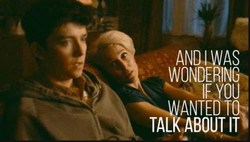 Jean having a deep talk with Otis