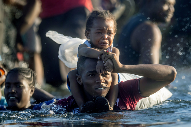 Photos From The Texas Border Show The Desperation Of Thousands Of Haitians At A Makeshift Camp