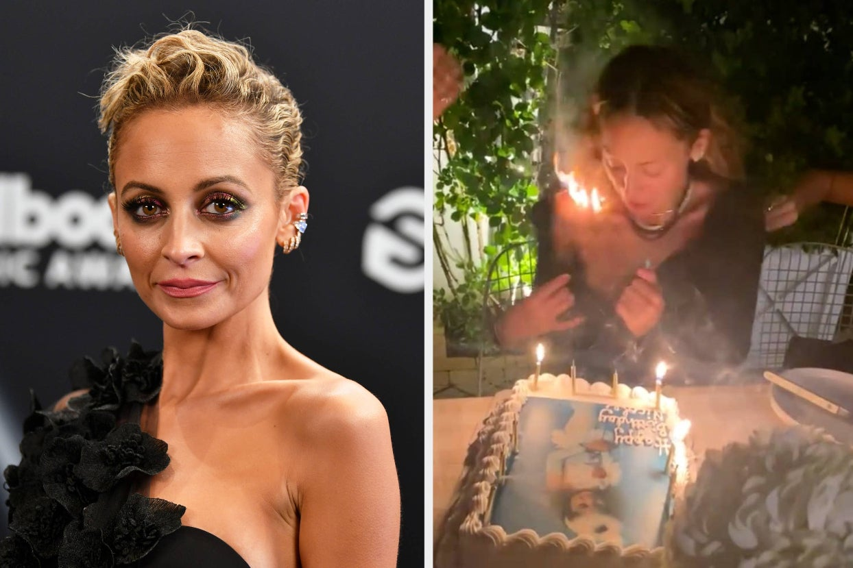 Nicole Richie Accidentally Set Her Hair On Fire While Blowing Out Her Birthday Candles And The Video Is Terrifying