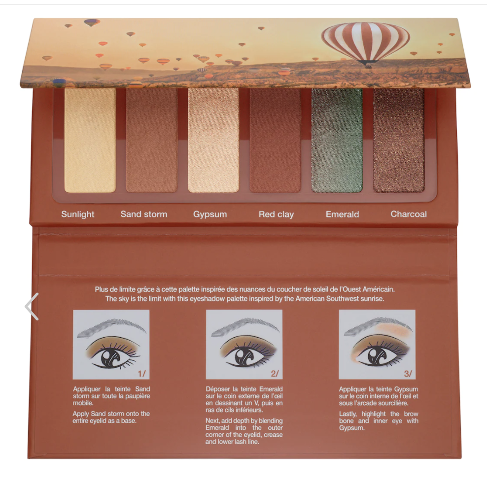 Small pallette with cream, beige, brown, and green colors