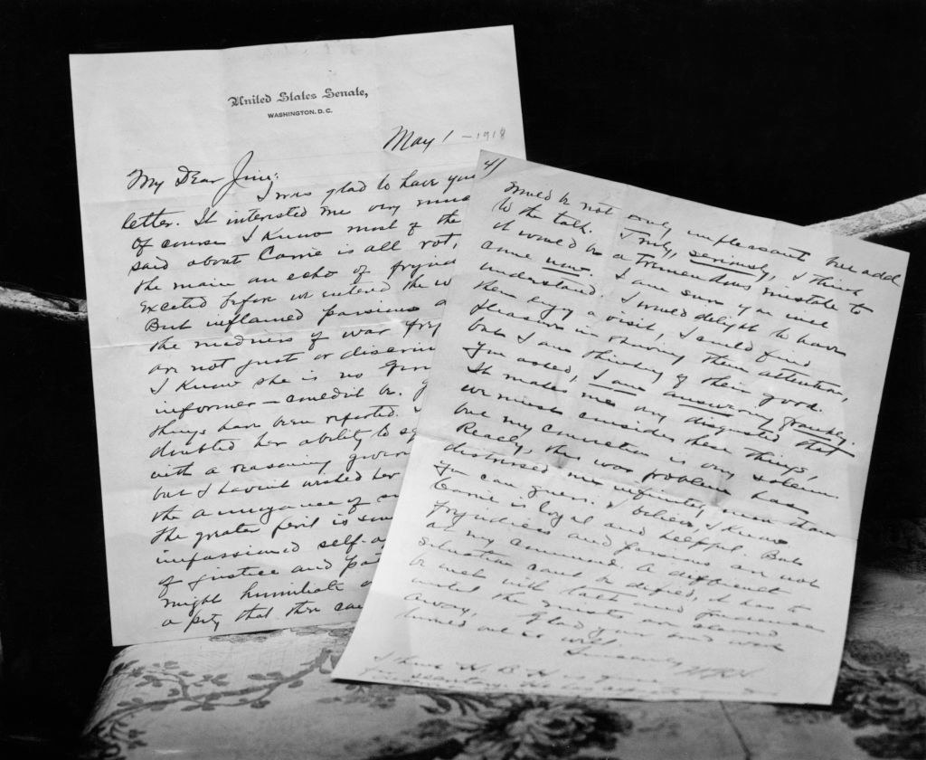 some of Harding's letters