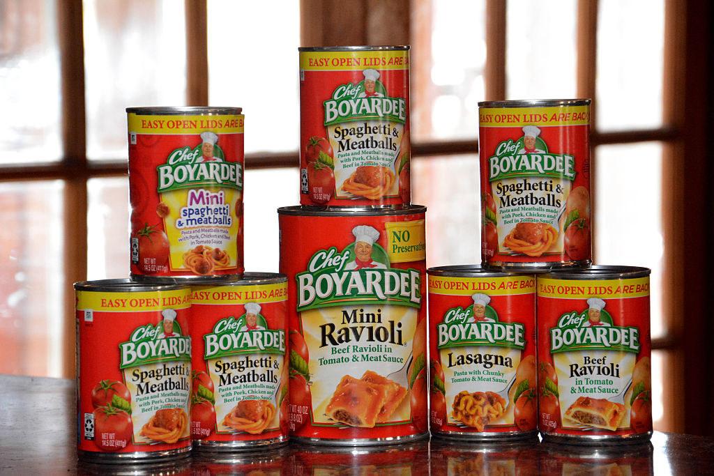 Chef Boyardee canned pasta