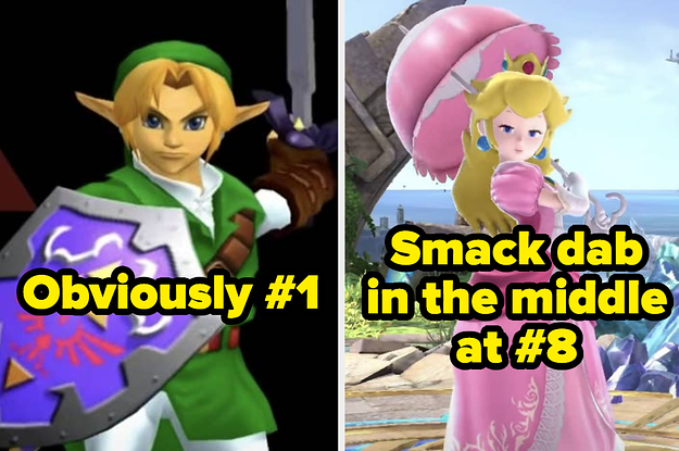 17 Smash Bros. Characters Ranked By How Much I Want To Smash Them