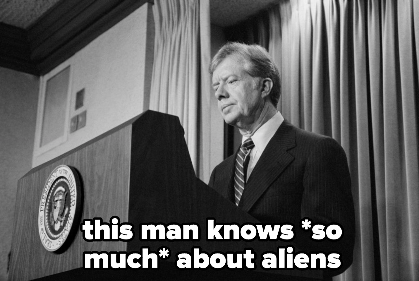Carter, a man who knows so much about aliens
