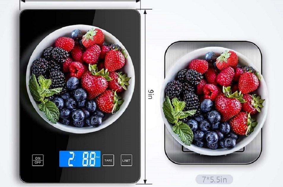 Báscula de cocina digital impermeable
