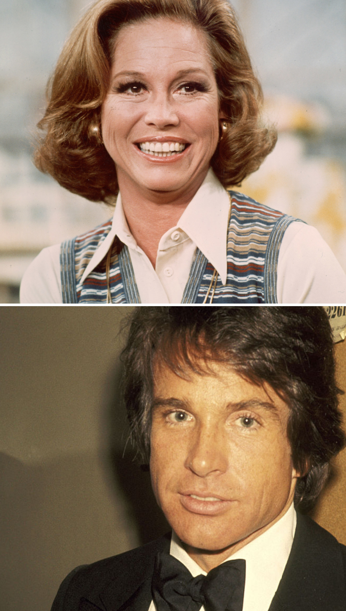 """Moore on """"The Mary Tyler Moore Show;"""" Beatty at the Kennedy Center in 1977"""