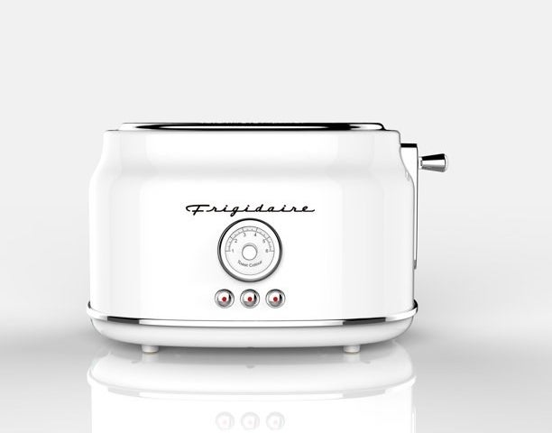 """Toaster shown in color """"White""""."""