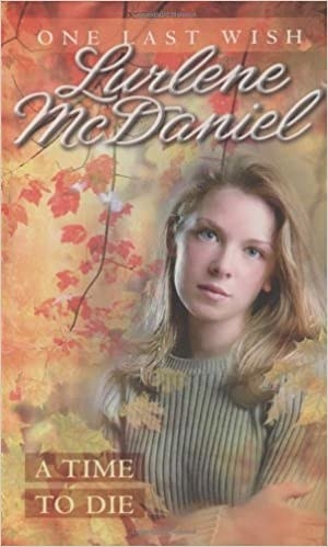 Book cover shows blond teen girl with autumnal leaves surrounding her and title text on bottom left corner