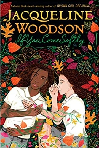 Updated 2010 book cover with illustration of the two main characters in a pile of leaves and flowers; title text in swoopy green font