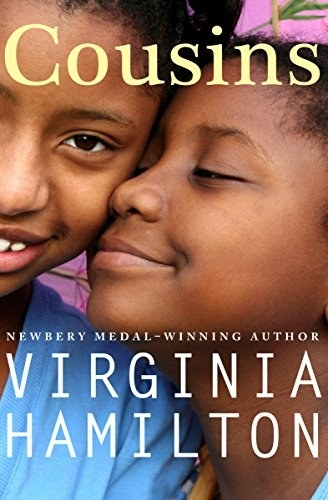 Close up photo of two Black teen girls smiling with title text above and author name below