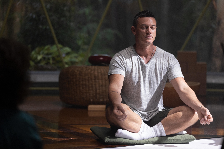 Lars meditating on the floor
