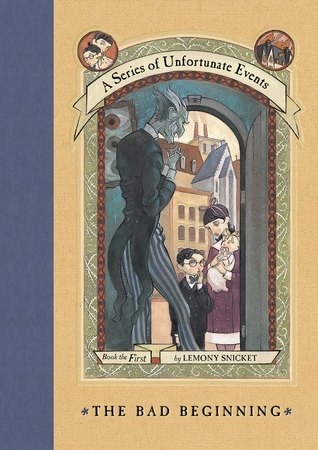 Blue spine and yellow background with an illustration of main characters on the cover with title text below