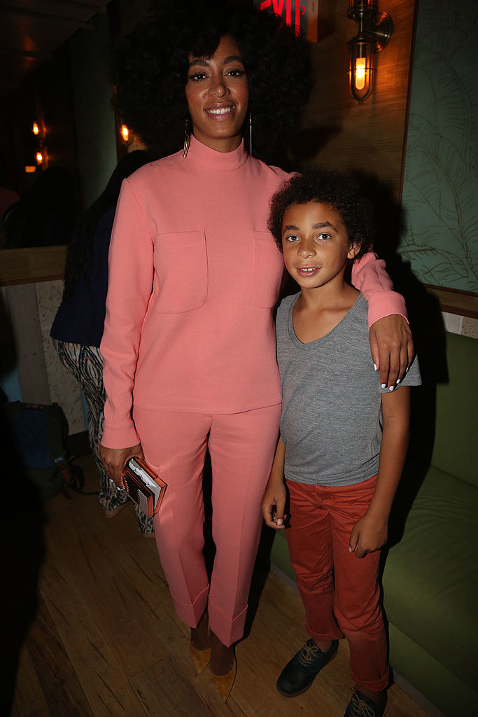 pic of solange and her son