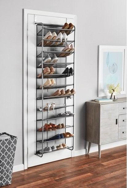 An image of an over-the-door shoe rack