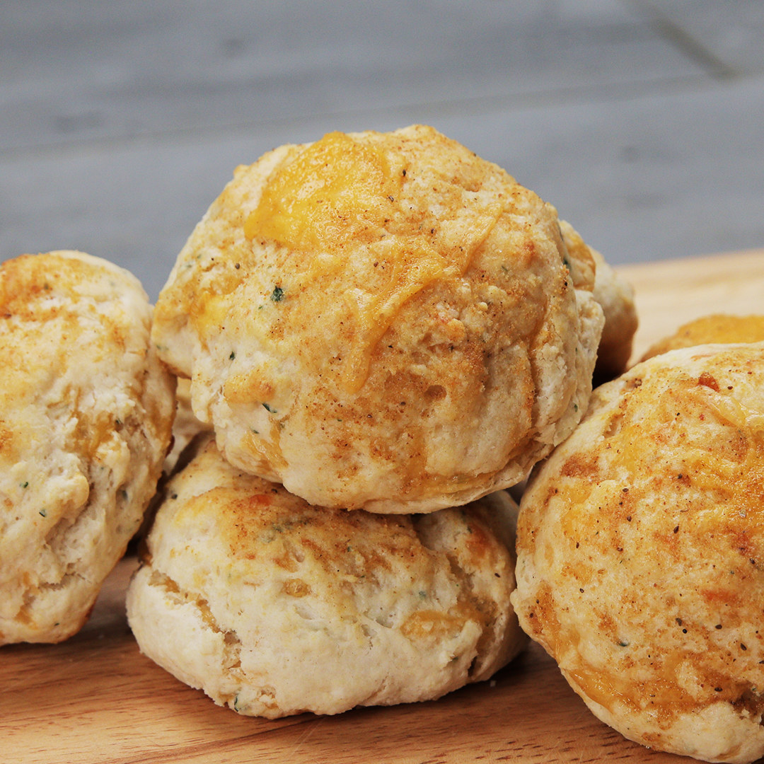 Cheddar-Stuffed Biscuits