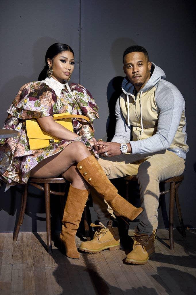 Nicki, on the left, sitting alongside her husband Kenneth