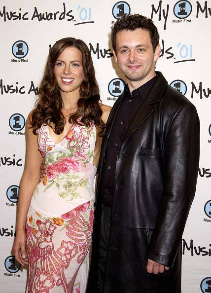 Kate Beckinsale and Michael Sheen pose together