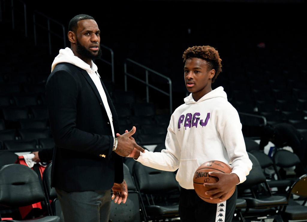 pic of lebron and his son