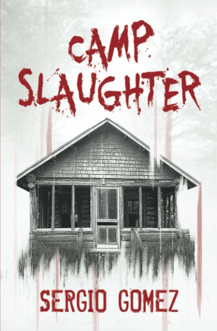 A creepy, decrepit cabin stands alone with red font that bleeds down the title.