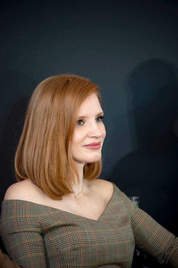 "Jessica Chastain attends the ""X-Men Dark Phoenix"" Press Conference"