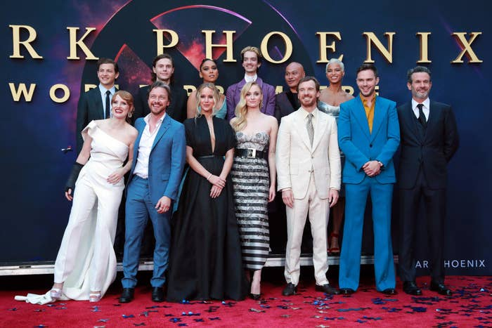 The cast of Dark Phoenix at the movie's premiere
