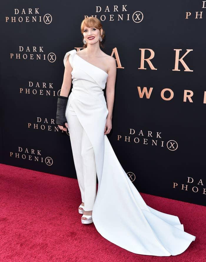 "Jessica Chastain attends the premiere of 20th Century Fox's ""Dark Phoenix"""