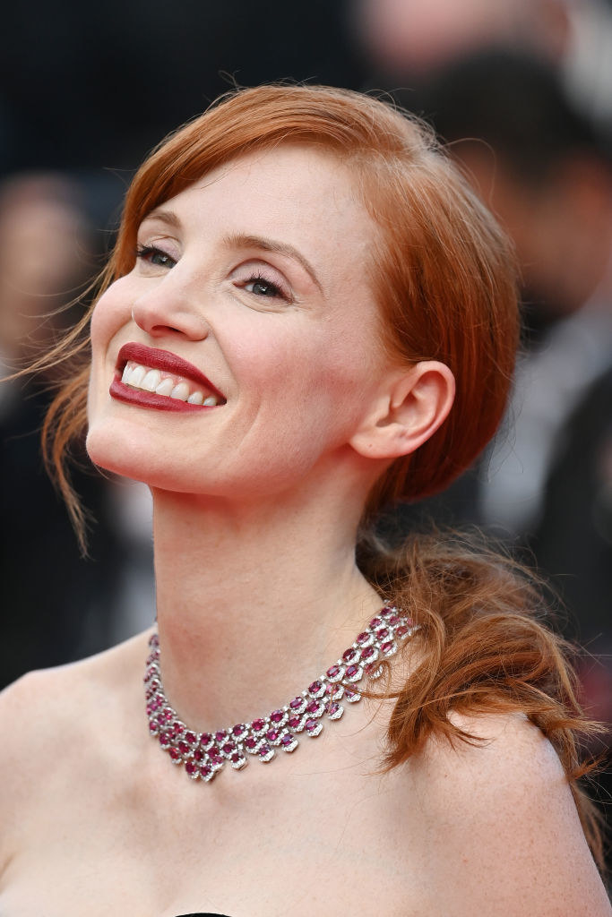 """Jessica Chastain attends the """"Annette"""" screening and opening ceremony"""