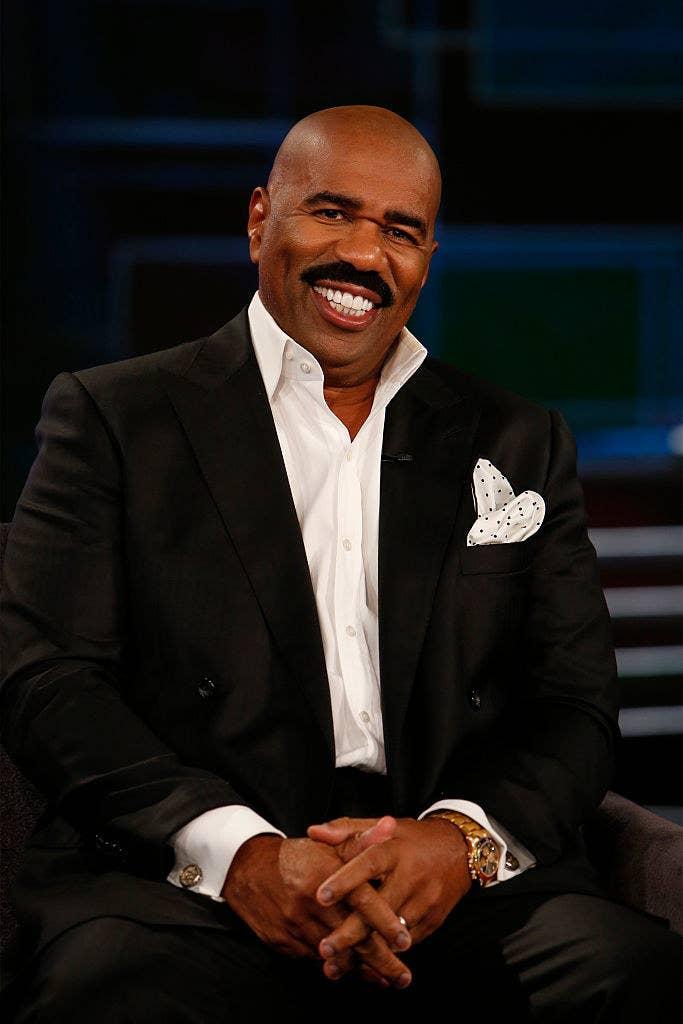 Steve Harvey smiling