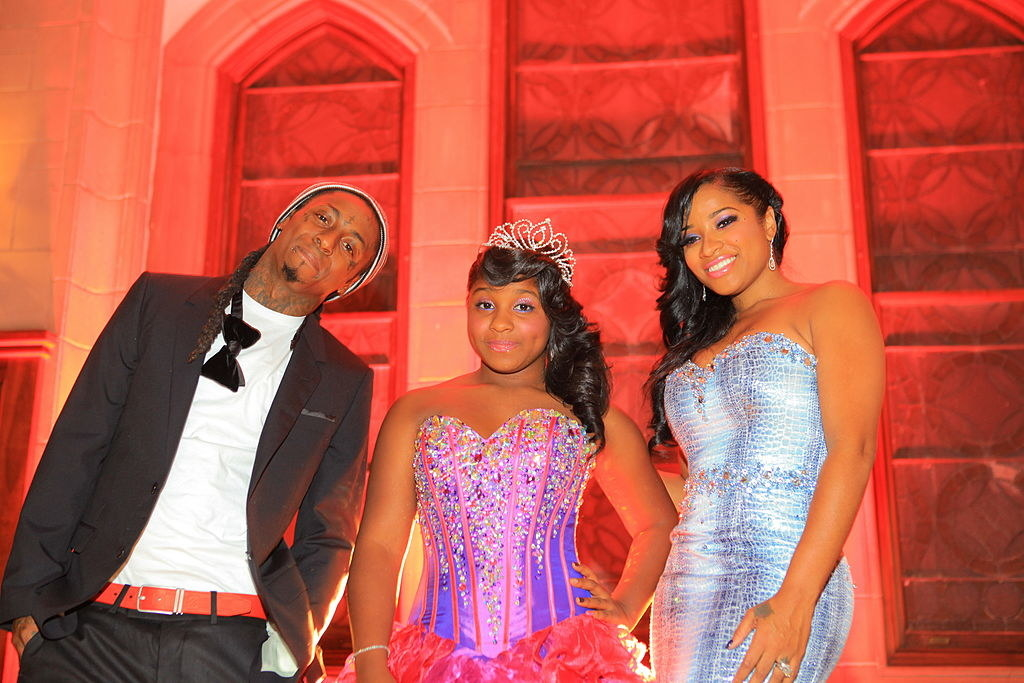 pic of lil wayne with his daughter and ex
