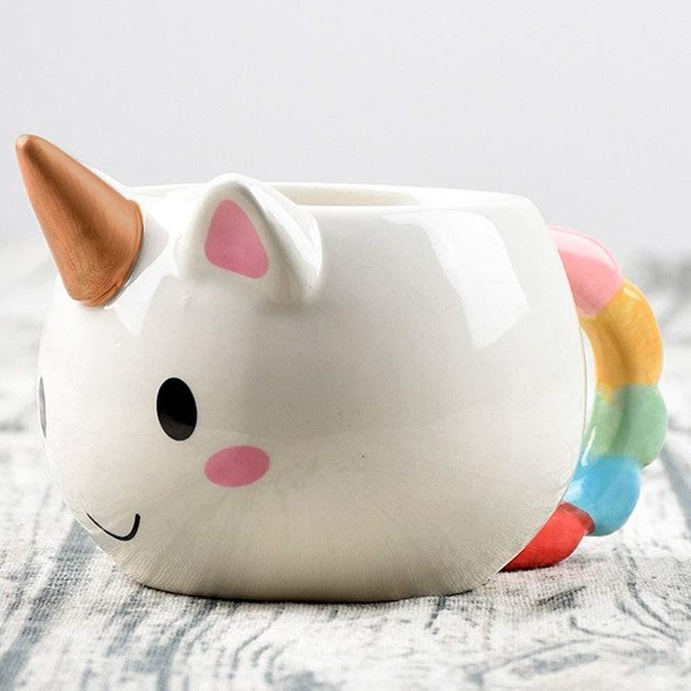 taza en forma de unicornio